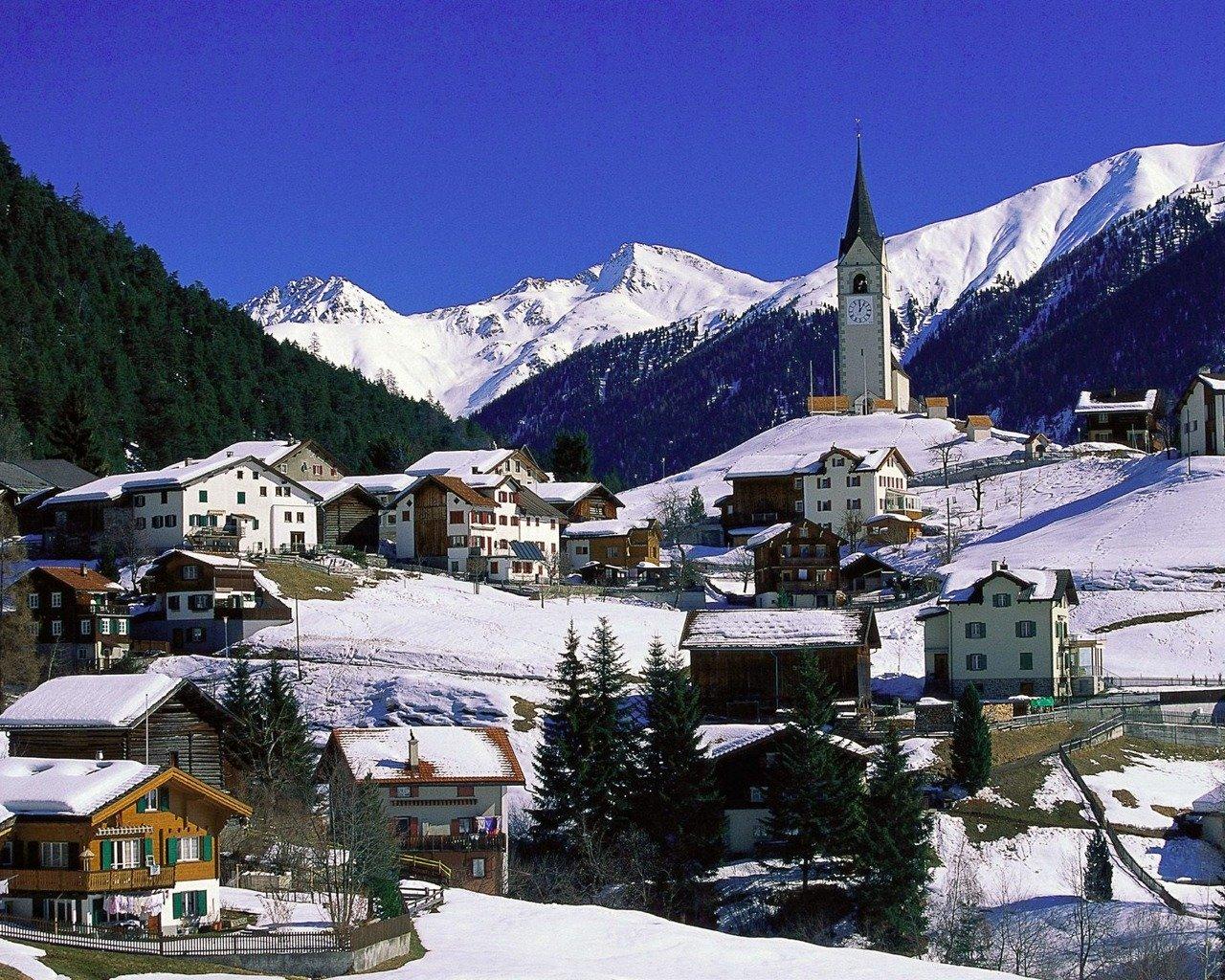 швейцария зима