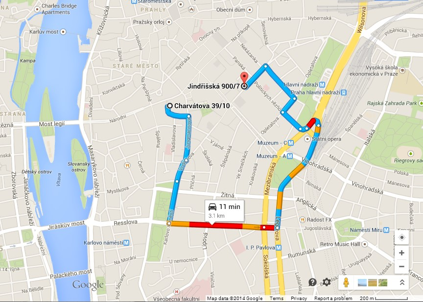 Road to Parking Jindrisska 7