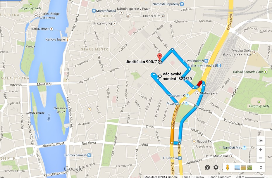 Road to Parking Vaclavak 29 - Jindrisska 7