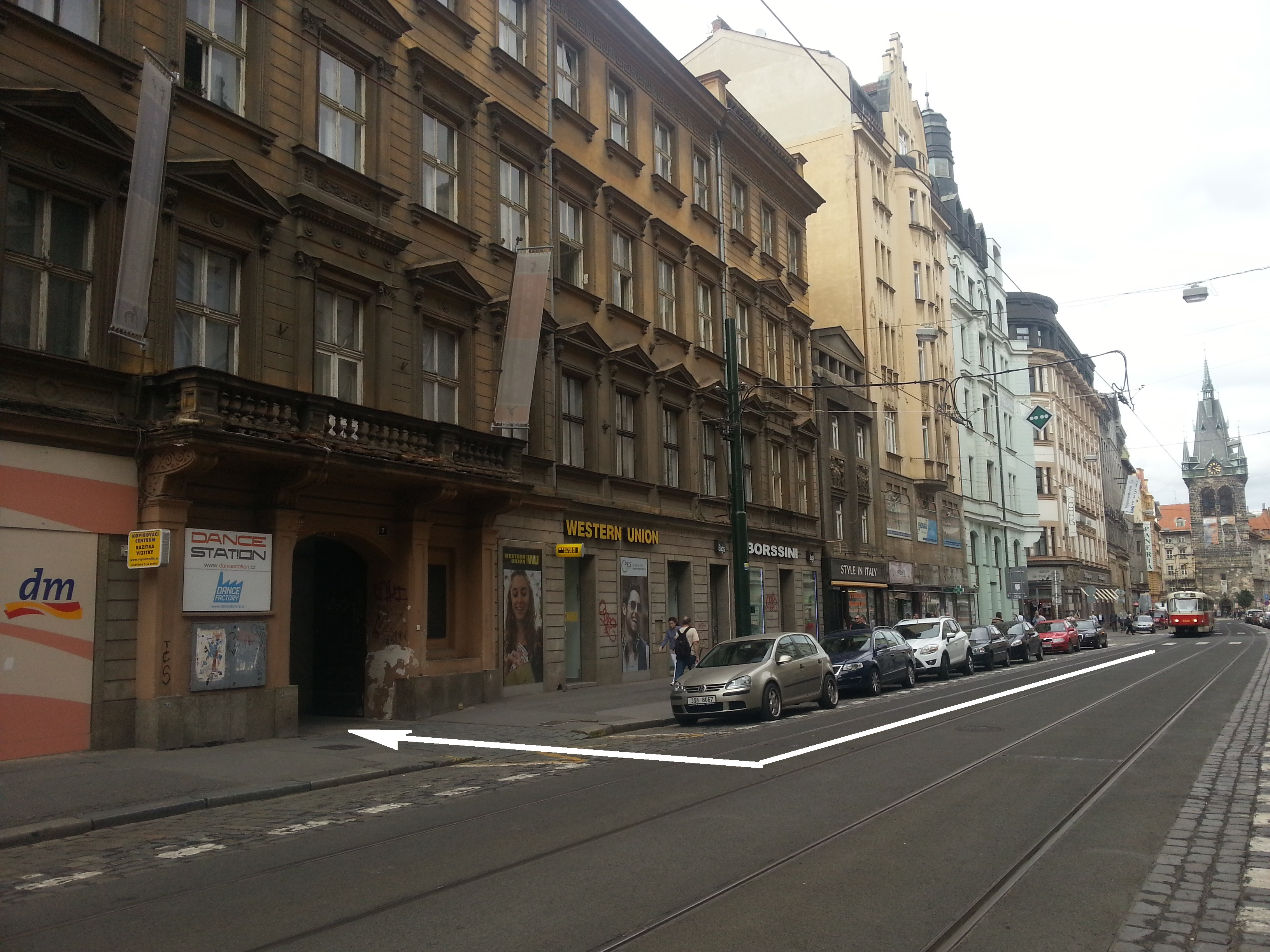Jindrisska 7 Parking Entry